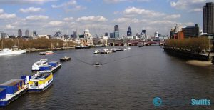 London - view from Thames River