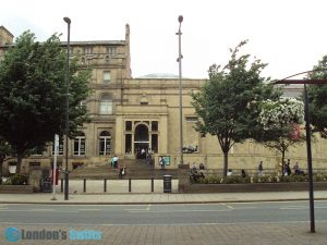 Main entrance of the Leeds Art Gallery
