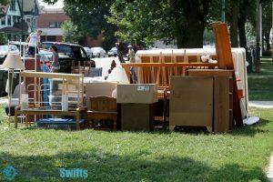 Furniture on lawn