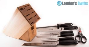 A kitchen knife set
